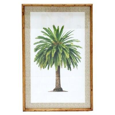 Chavez Bamboo Framed Wall Art Print, Canary Palm, 90cm