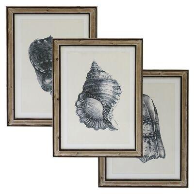 Inglenook 3 Piece Pine Timber Framed Wall Art Print Set, 70cm