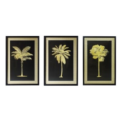 Palmier 3 Piece Timber Framed Wall Art Print Set, 90cm
