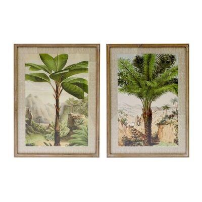 Meadows 2 Piece Timber Framed Wall Art Print Set, Palm Valley, 90cm