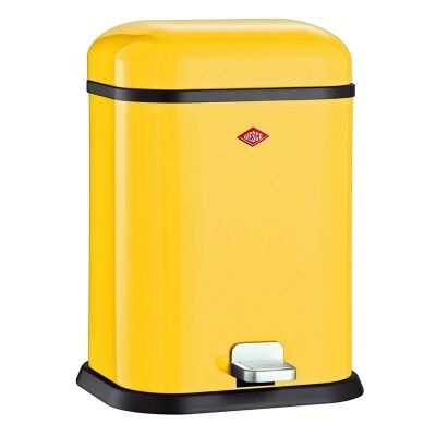 wesco single boy steel 13l disposal bin lemon yellow. Black Bedroom Furniture Sets. Home Design Ideas
