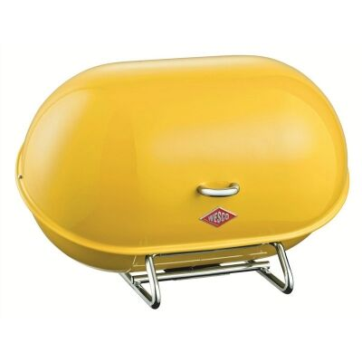 Wesco Single Breadboy Steel Bread Bin - Lemon Yellow