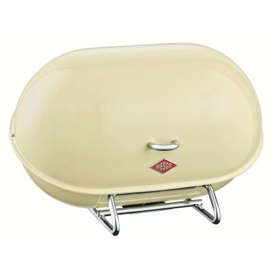 Wesco Single Breadboy Steel Bread Bin - Almond