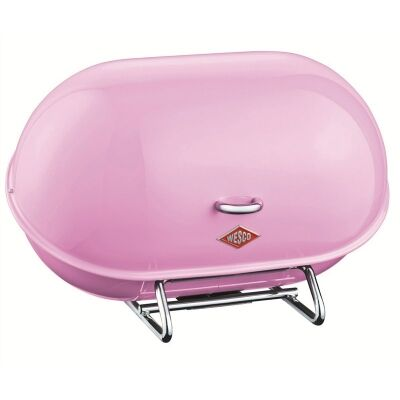 Wesco Single Breadboy Steel Bread Bin - Pink