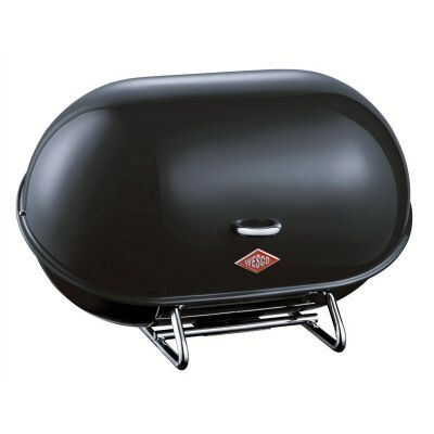 Wesco Single Breadboy Steel Bread Bin - Black