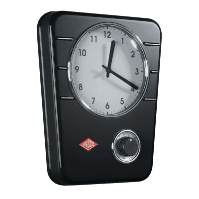 Wesco Metal Kitchen Clock - Black