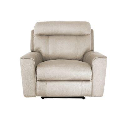 Ballarat Fabric Recliner Armchair, Beige
