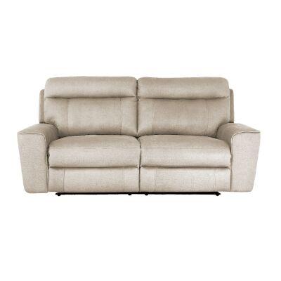 Ballarat Fabric Recliner Sofa, 2 Seater, Beige