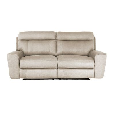 Ballarat Fabric Recliner Sofa, 2.5 Seater, Beige