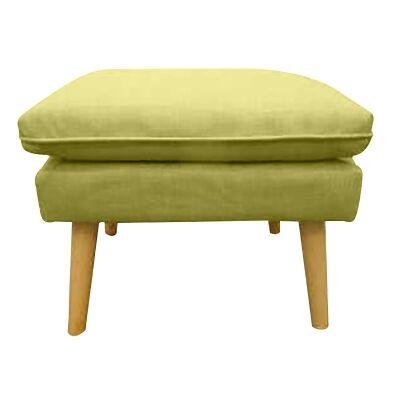 Rialto Fabric Ottoman, Green