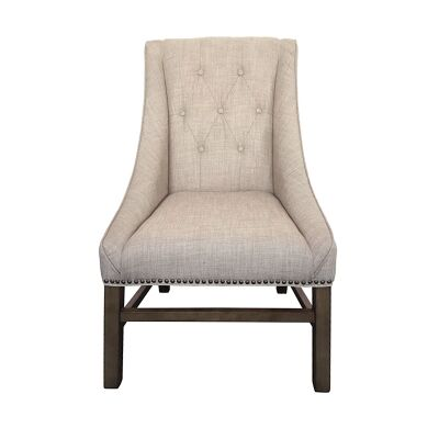 Blaxcell Fabric Dining Chair, Beige
