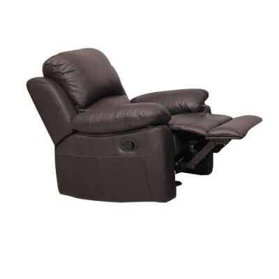 Connie Leather Recliner Lounge Armchair, Brown