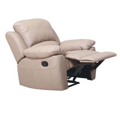 Connie Leather Recliner Lounge Armchair, Taupe