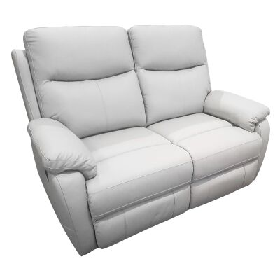 Colson Leather 2 Seater Recliner Sofa, Mist
