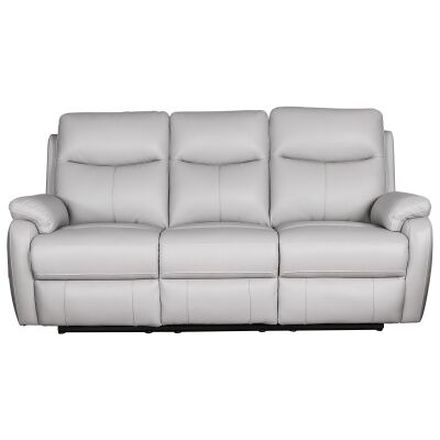 Colson Leather 3 Seater Recliner Sofa, Mist