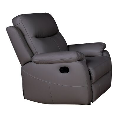Colson Leather Recliner Lounge Armchair, Brown