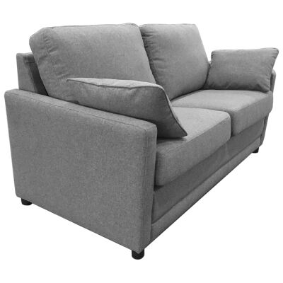 Tofta Fabric Sofa Bed, Double, Mid Grey