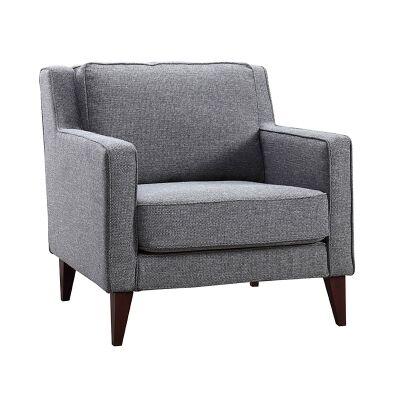 Newford Fabric Armchair, Gun Metal