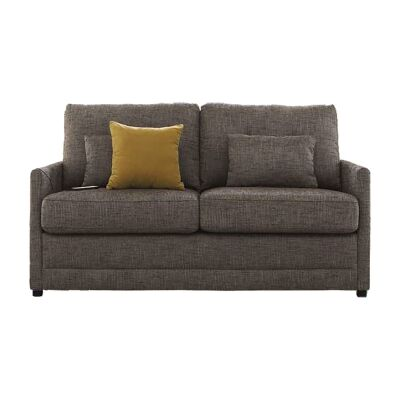Cotter Fabric Pull Out Sofa Bed, Double, Coffee