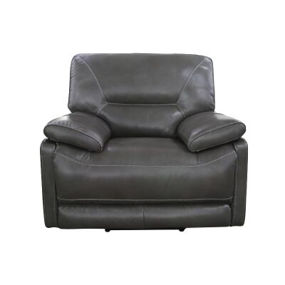 Boronia Premium Leather Lounge Armchair, Grey