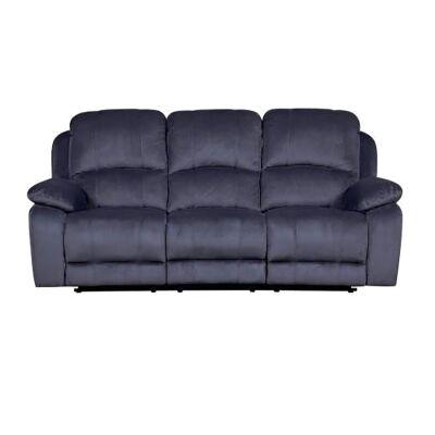 Jamon Fabric Recliner Sofa, 3 Seater, Truffle
