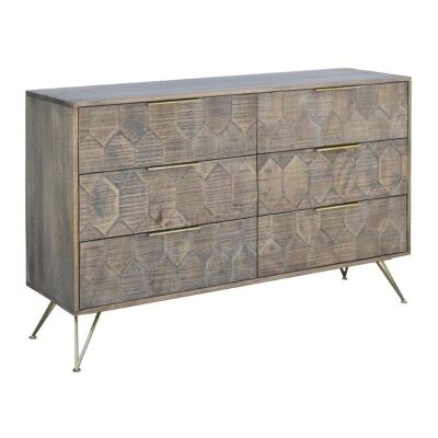 Marsden Mango Wood 6 Drawer Dresser
