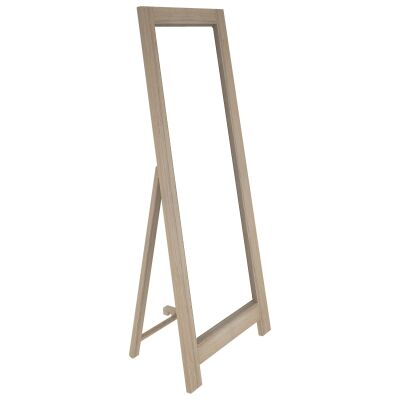 Lafite Acacia Timber Frame Cheval Mirror, 165cm