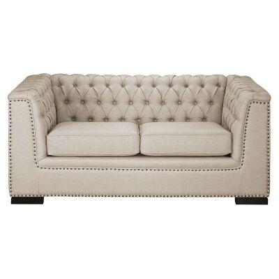 Bowdon Tufted Fabric 2 Seater Sofa
