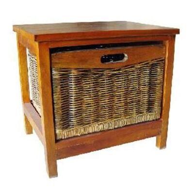 Berala 1 Cane Drawer Mango Wood Cabinet