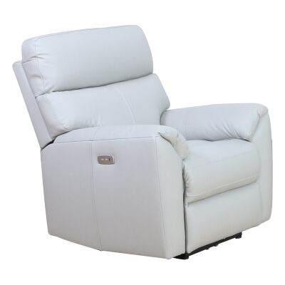 Vito Leather Electric Recliner Chair, Mist