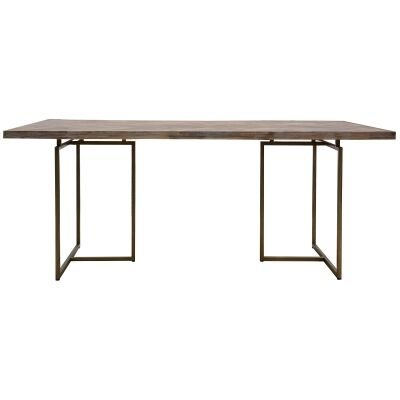 Nona Acacia Timber & Metal Dining Table, 180cm