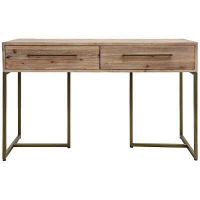 Nona Acacia Timber & Metal Console Table, 120cm
