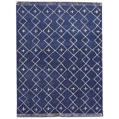Flemond Textured Wool Rug, 190x290cm, Blue
