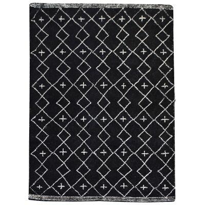 Flemond Textured Wool Rug, 160x230cm, Charcoal