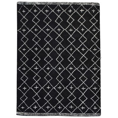 Flemond Textured Wool Rug, 190x290cm, Charcoal