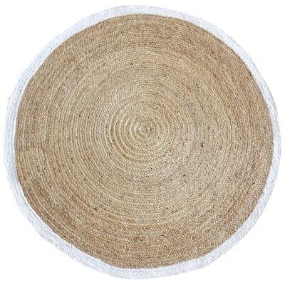 Jento Handmade Hemp & Fabric Round Rug, 150cm