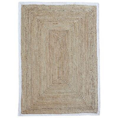 Jento Handmade Hemp & Fabric Rug, 160x230cm