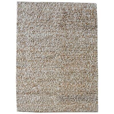 Dormark Handwoven Textured Wool & Hemp Rug, 190x290cm, Ivory / Naural