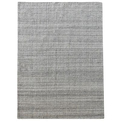Coria Handwoven Wool &  Hemp Rug, 160x230cm, Grey