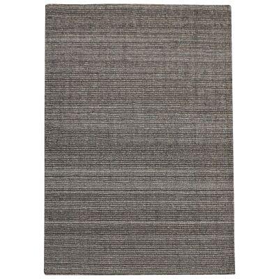 Coria Handwoven Wool &  Hemp Rug, 190x290cm, Charcoal