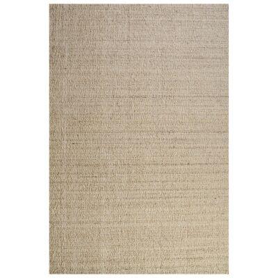 Meka Handwoven Textured Wool Rug, 190x290cm, Beige