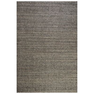 Meka Handwoven Textured Wool Rug, 190x290cm, Grey
