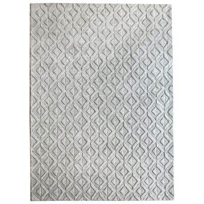 Edna Handwoven Textured Wool Rug, 190x290cm