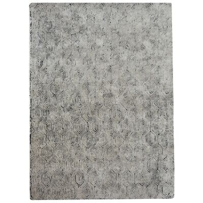 Timothy Hand Tufted Textured Wool Rug, 160x230cm, Linen