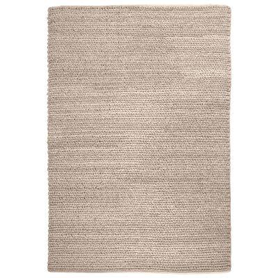 Gita Handwoven Textured Wool Rug, 160x230cm, Beige