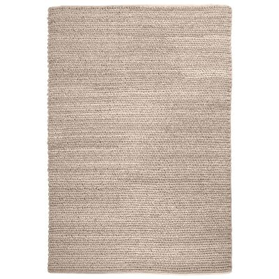 Gita Handwoven Textured Wool Rug, 190x290cm, Beige