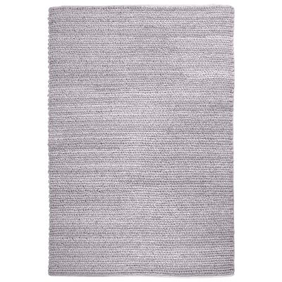 Gita Handwoven Textured Wool Rug, 160x230cm, Grey