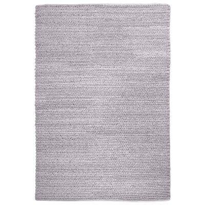 Gita Handwoven Textured Wool Rug, 190x290cm, Grey
