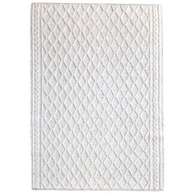 Evrita Hand Knitted Textured Wool Rug, 190x290cm