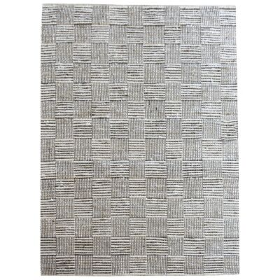 Meles Handwoven Hemp & Cotton Rug, 190x290cm, Ivory / Natural